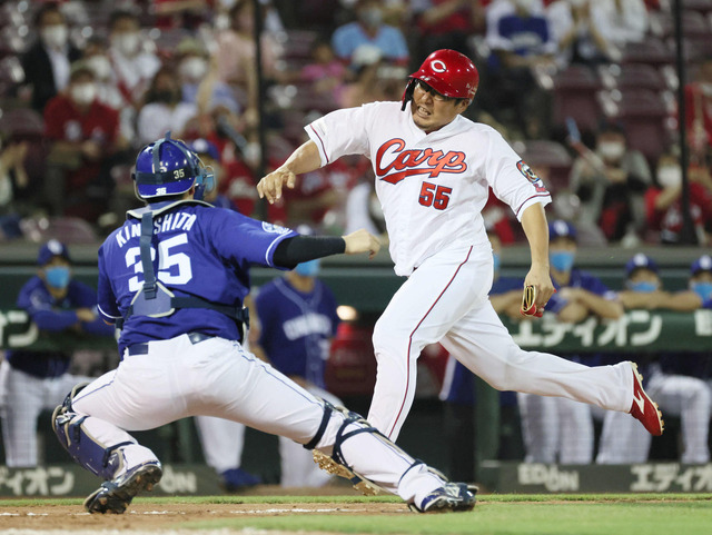 カープ松山本塁突入も憤死。廣瀬コーチ「僕の責任です」
