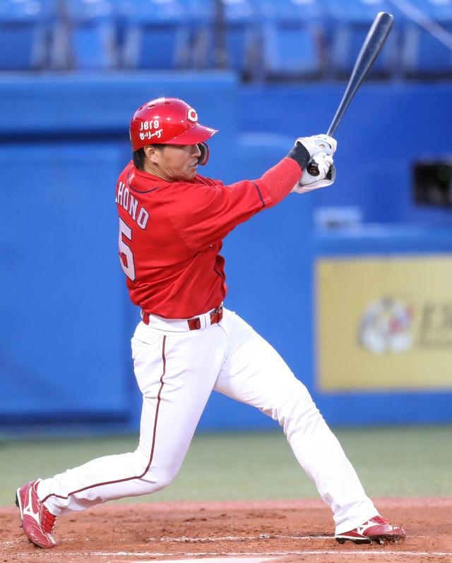 カープ長野久義、2点タイムリー2塁打