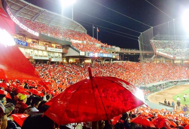 カープ_赤傘