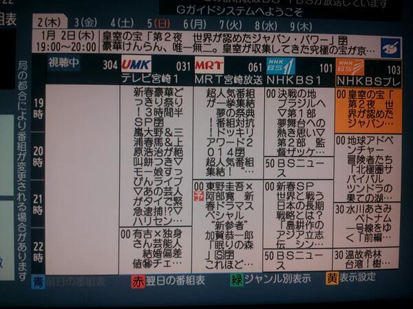 宮崎_民放_番組表