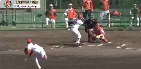 【カープ】ヘルウェグ、フリー打撃で登板…対戦は全員左打者
