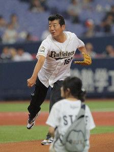 オリックス、始球式に松井一郎府知事を呼んでしまう