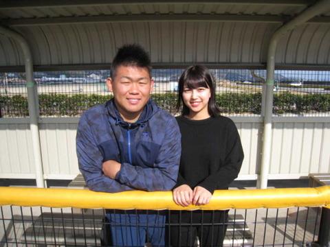 巨人・田口、高校2学年後輩の美女と結婚…甲子園で可愛いと話題になったチアガールだった