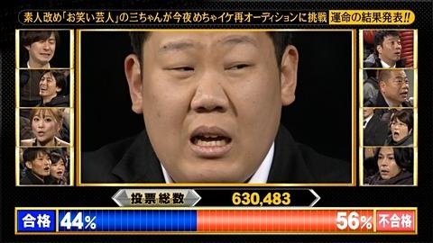 めちゃイケ三中クビSPの視聴率wwww