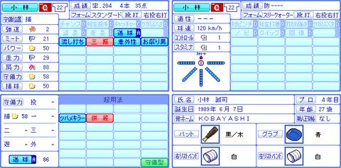 コナミ、小林誠司にお祭り男を追加していた