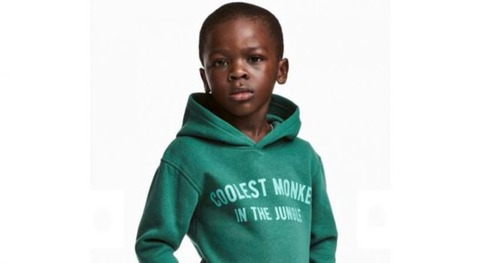 H&M、黒人少年に「ジャングルで一番かっこいい猿」とプリントされた服を着せ炎上