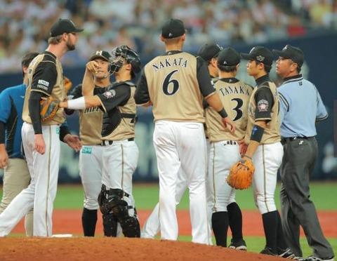 日本ハム・マーティン怒りの抗議「なぜかホークス戦では目が厳しい」