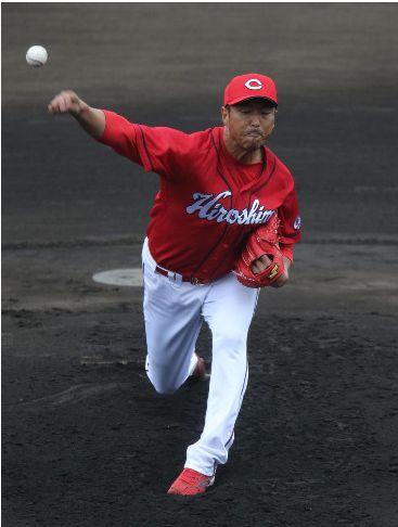 【カープ】黒田、シート打撃登板「バットを折りたい」と言っていた新井に本塁打を浴びる