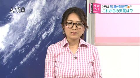 NHKにとんでもない胸の気象予報士が登場する