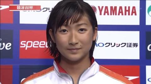 広末涼子似の美少女JCが100m自由形で日本新