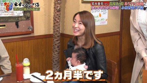 【ダウンタウンなう】鈴木亜美の赤ちゃんに浜田がキスwwwwww