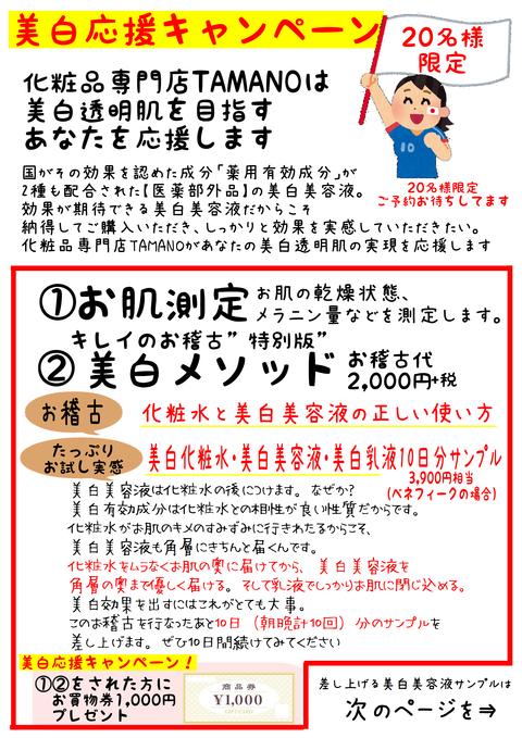 美白応援キャンペーン1枚目
