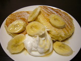 パンケーキ・メープル&バナナ
