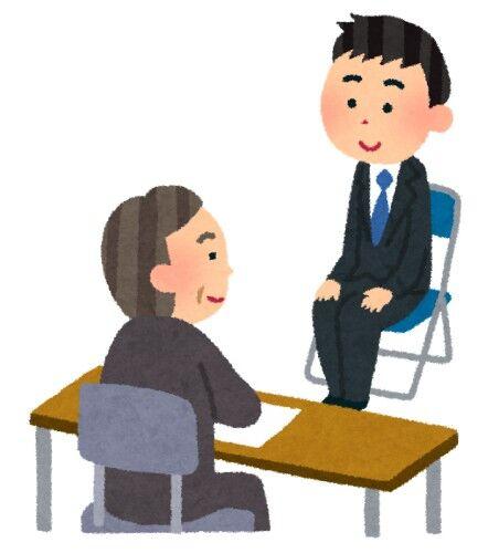 面接「腹を割って本音で話しましょう(^^)」y「はい!」面接「では…」