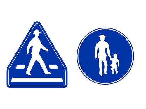 歩行者の道路標識は国ごとにこう違う…わかりやすく比較したヨーロッパ地図