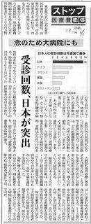 受診回数・日本が突出