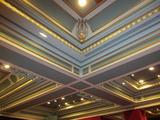 ホールの天井の綺麗なこと