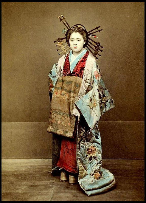 正装の花魁 モノクロ写真でよみがえる花魁の世界 Naver まとめ