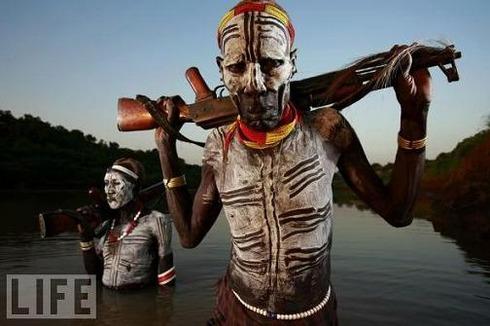 Karo Tribesmen, Omo River Valley