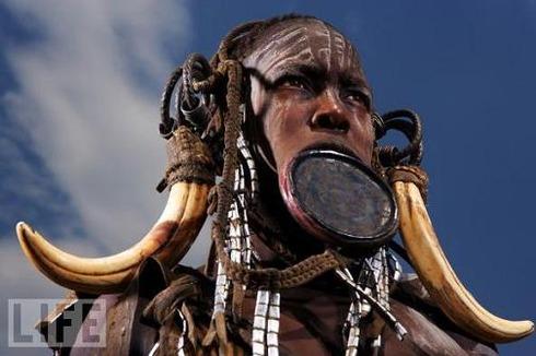Mursi Woman, Omo River Valley, Ethiopia