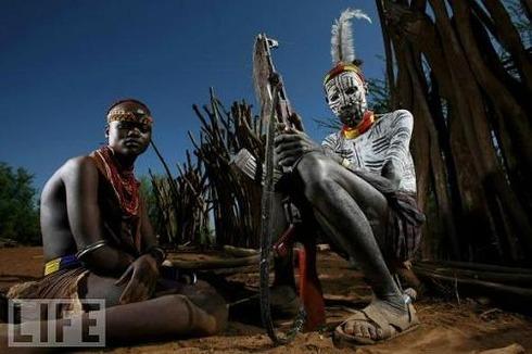 Karo Husband and Wife, Ethiopia