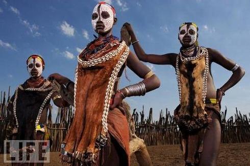 Karo Girls, Ethiopia