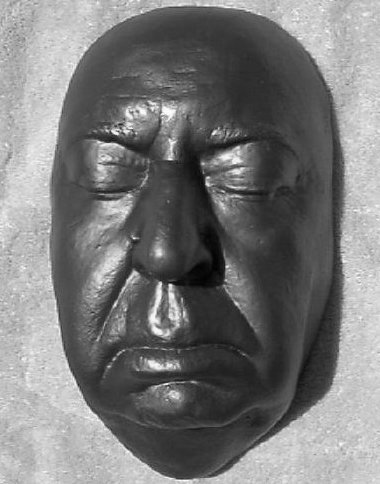 Alfred Hitchcock Death Mask