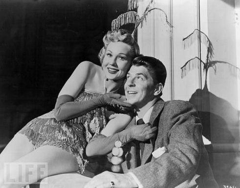 Virginia Mayo and Ronald Reagan, 1952