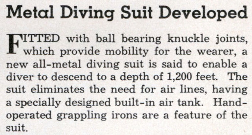History of Diving Suits 30