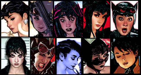 The_Many_Faces_of_Selina_Kyle_by_AdamHughes