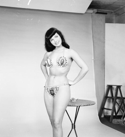 1950_American pin-up Bettie Page