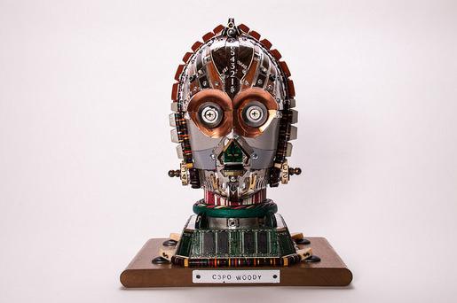 Junk Art C3PO Woody-4028