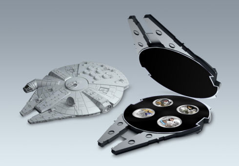 Millennium Falcon 4 x 1oz Silver coin set