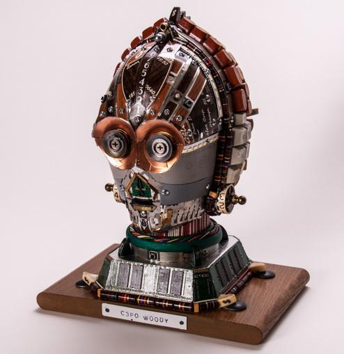 Junk Art C3PO Woody-4030