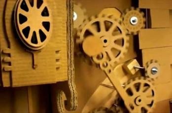 Cardboard Mechanics Installation