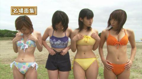 グラビアアイドル市川由衣と佐藤寛子の睨み合い