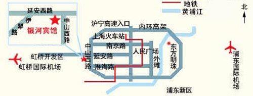 上海銀河賓館(Galaxy Hotel Shanghai)MAP