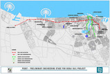ドバイの地下鉄路線図(予定)