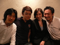 左から、西村さん、内藤さん、ヴィクトリアさん、ワタシ