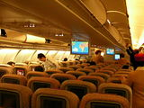 エミレーツ航空の機内
