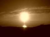 知床五湖から眺める夕焼け