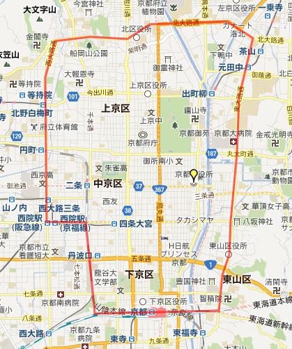 京都の範囲
