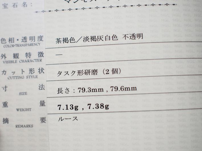 マンモスの牙の鑑定書 (12)