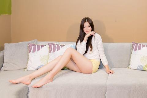 モデルの美脚