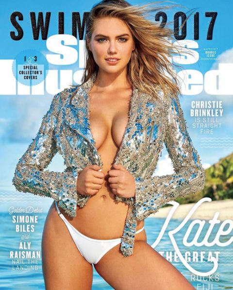 手ブラも!! ケイト・アプトン、米誌『Sports Illustrated』水着特集号の表紙でビキニ