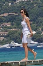 Elizabeth Hurley yacht pics