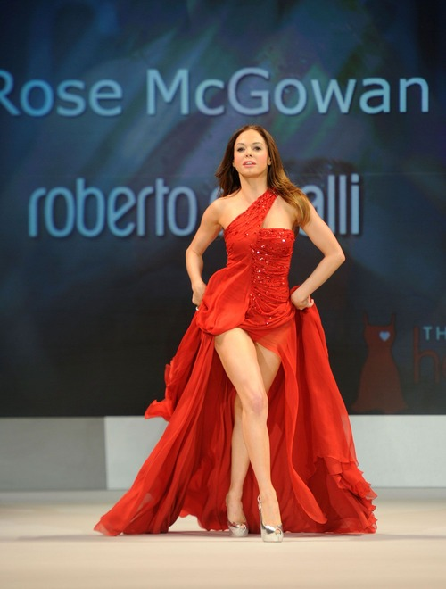 Rose Mcgowan at The Heart Truths Red Dress Collection 2012 09