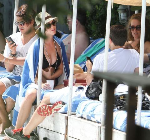 Katy Perry - wearing a bikini at a hotel pool in Miami  37