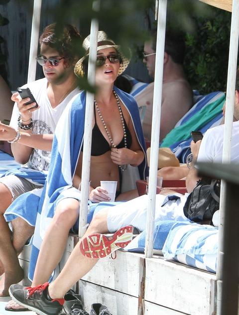 Katy Perry - wearing a bikini at a hotel pool in Miami  47