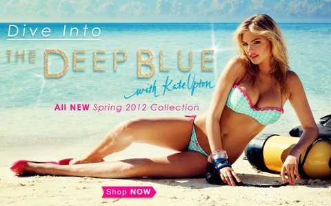 Kate Upton Beach Bunny Swimwear The Deep Bule 2012 Collection 02